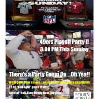 Playoff Party Sunday at the Sheraton San Jose